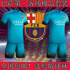 2015-2016 BARCELONA Third Kit  3-14Y MESSI NEYMAR own name
