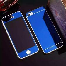 Front+Back Colored Mirror Tempered Glass Film Screen Protector For iPhone 5s 6s