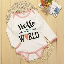 Baby Girls Boys Cotton Clothes Long Sleeve Romper Outfit Bodysuit Jumpsuit 0-24M