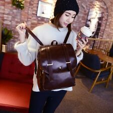 Womens Fashion Girls Campus School Bags PU Leather Backpacks Korean Style Bags
