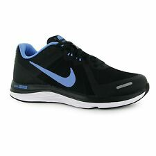 Nike Dual Fusion X2 Running Shoes Womens Black/Blue Fitness Trainers Sneakers
