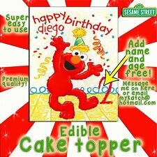 Elmo Sesame Street edible Cake topper picture decal transfer Birthday sugar easy