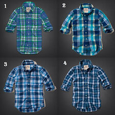 NWT Hollister by Abercrombie&Fitch Plaid Shirt Authentic XS S M L Muscle Fit