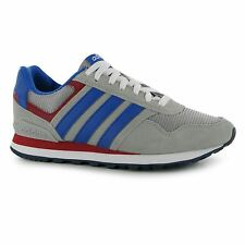 Adidas 10k Trainers Mens Grey/Blue/Red Casual Sneakers Shoes Footwear