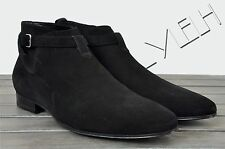 SAINT LAURENT 895$ Authentic New Black Suede Jodhpur 'London 20' Ankle Boots