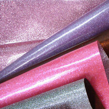 High Gloss Smooth Finish Fine Glitter Fabric Twinkle Craft Applique 24*120cm