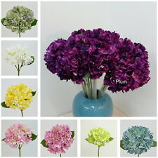 10pcs Fall Wedding Flowers Silk Hydrangea For Table Centerpieces Bridal Bouquets