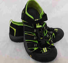 New! Kids Youth Keen- Newport H2 Sport Sandals Black/Lime 1009965 D10