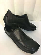 Rieker Celia Black Leather Loafers Mocasins Elastic Knited Shoes Size 5.5-10