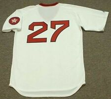 CARLTON FISK Boston Red Sox 1975 Majestic Cooperstown Home Baseball Jersey