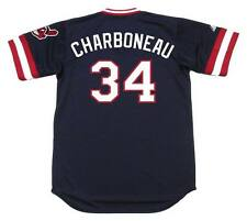 JOE CHARBONEAU Cleveland Indians 1980 Majestic Cooperstown Throwback Away Jersey