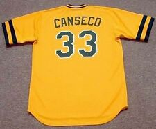 JOSE CANSECO Oakland Athletics 1986 Majestic Cooperstown Home Baseball Jersey