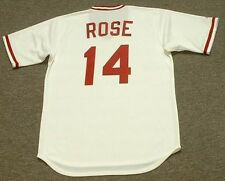 PETE ROSE Cincinnati Reds 1975 Majestic Cooperstown Home Baseball Jersey