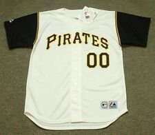 """PITTSBURGH PIRATES 1960's Majestic Throwback Home """"Customized"""" Baseball Jersey"""