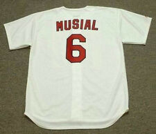 STAN MUSIAL St. Louis Cardinals Majestic Cooperstown Home Baseball Jersey