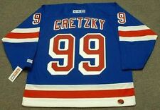 WAYNE GRETZKY New York Rangers 1999 CCM Throwback Home NHL Hockey Jersey