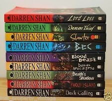 9 Darren Shan books Demonata Series 1-9 paperback horror job lot set