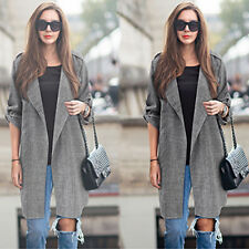Women's Fashion Long Autumn Parka Coat Trench Outwear Jacket Plus Size