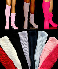 12 Pick Color SLOUCH to Knee Socks large long Halloween Costume Hooters Uniform