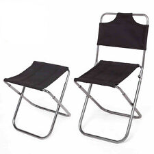 Outdoor Portable Folding Aluminum Chair Picnic Camping Hiking Stool Fishing Seat