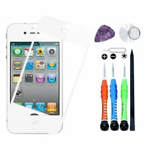 Front Replacement Glass Lens Outer Screen for Apple iPhone 4 4G or 4S Tool White