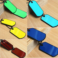 Army Tactical Style Black 2 Dog Tags Chain Beauty Men Pendant Necklace Cool