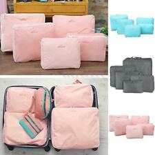 5Pcs Set Travel Storage Bags Clothes Packing Cube Waterproof Luggage Organizer