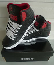 Osiris Shoes CLONE -  Lifestyle High Top Skate  -  Black/Red/Red