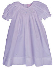 Petit Ami Dress Infant Girls Lavender Bishop Smocked Dress NWT