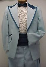 BABY BLUE & NAVY TUXEDO JACKET or 4pc RETRO AFTER SIX VINTAGE MENS WEDDINGS PROM