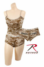 """TANK TOP AND """"BOOTY CAMP"""" SHORTS SET DESERT DIGITAL CAMO ROTHCO XS S M L XL"""