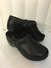 Spring Step Sicily Professional Oil Skid Resistant Black/White Clogs Size7M-8.5W