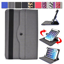 Universal 7 - 8 inch Tablet Slim Sleeve Folio Case Cover & Rotating Stand 08AR3
