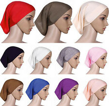 Women Hijab Head Scarf Muslim Cover Islamic Headwrap Cotton Underscarf Bonnet