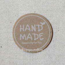 """HANDMADE STICKERS """"Especially For You"""" Kraft Labels Seals Craft Gifts 60 pcs"""