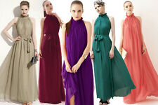 Women Boho Long Chiffon Evening Formal Party Cocktail Dress Bridesmaid Prom Gown