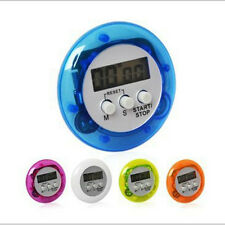 Digital Magnetic LCD Stopwatch Timer Kitchen Racing Alarm Clock Round Shape New