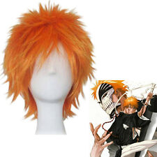 Japanese Anime Bleach Kurosaki Ichigo orange Skipy Short Cosplay Hair Full Wig