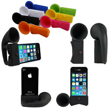 IPhone 4S / 4 Portable Amplifier Speaker Silicone Horn Stand Holder Dock Case