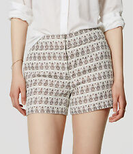"""Ann Taylor LOFT Shimmer Jacquard Riviera Shorts with 4"""" Inseam Size 14 NWT"""