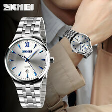Luxury Men's Date Stainless Steel Analog Quartz Sports Wrist Watch Waterproof
