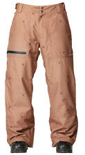 Quiksilver Dark and Stormy Men's Brown Snowboard Ski Pants NEW NWT