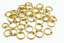 LOT100PCS Stainless Steel  Ear Lip Eyebrow Captive Bead Rings  BCR Earring 16g