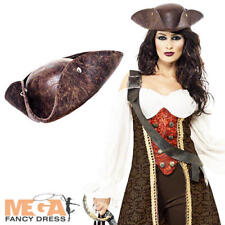 Pirate Wench + Hat Ladies Fancy Dress Adults Womens Halloween Costume Outfit New