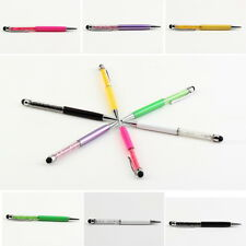 2 in 1 Crystal Diamond Stylus Pen+Ball Point Pen Function for Touch Screen QKC