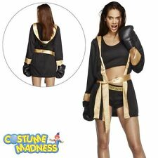 Fever Knockout Costume- Adult Woman Outfit Fancy Dress