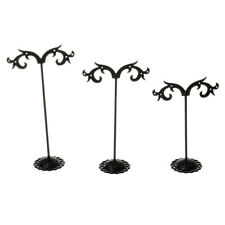 3pcs Retro Earring Necklace Bracelet Display Rack Stand Holder Organizer 7-Type