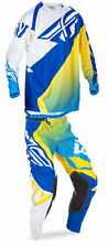 Fly Racing Blue/Yellow/White Mens Youth Evolution 2.0 Dirt Bike Jersey Pant Kit