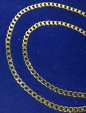"Men 24"" Cuban Link Chain Necklace 6 mm Real 14k Yellow Gold Plated 24 Inches"