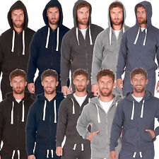 Mens Plus King Size Tracksuit Hoodie Hoody Jog Pants Plain Casual Jersey S - 6XL